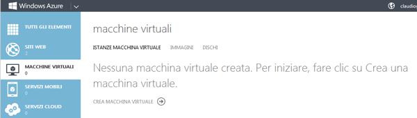 Gestione delle Macchine Virtuali da Portal