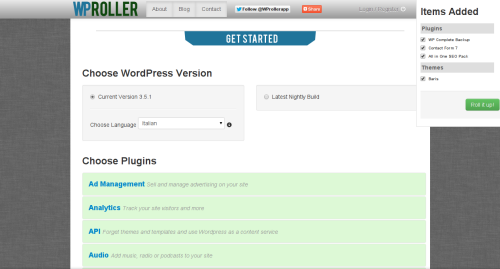 Creazione della configurazione di WordPress personalizzata