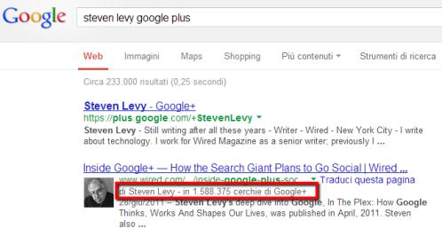 Informazioni del profilo Google+ da correlare su WordPress