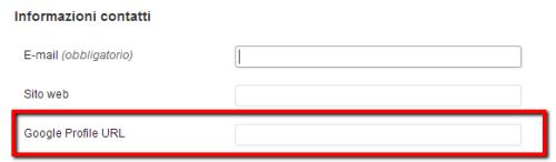 Campo del profilo Google+ per ogni utente di WordPress