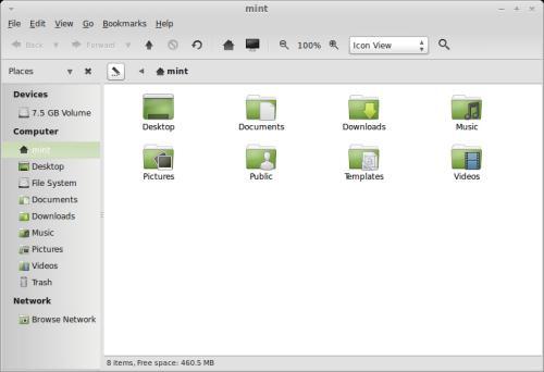 Caja, il gestore delle finestre di MATE 1.6, su Linux Mint 15