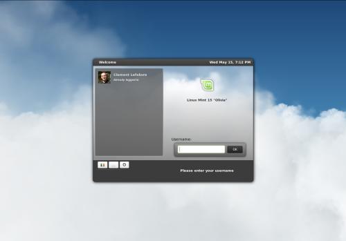 L'interfaccia di MDM basata su Webkit su Linux Mint 15 (fonte: www.linuxmint.com)