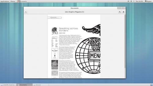 Il desktop di GNOME 3.8 in modalità