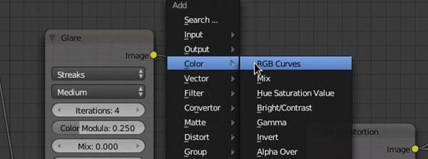 Nodo RGB Curves