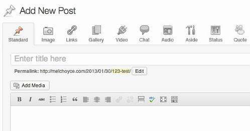 Formati dei post in WordPress 3.6