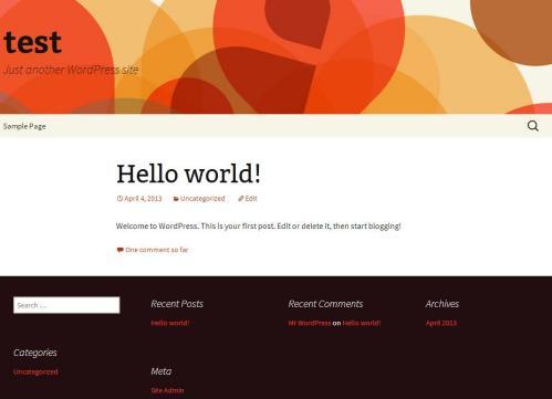 Twenty Thirteen, il nuovo tema di default di WordPress 3.6