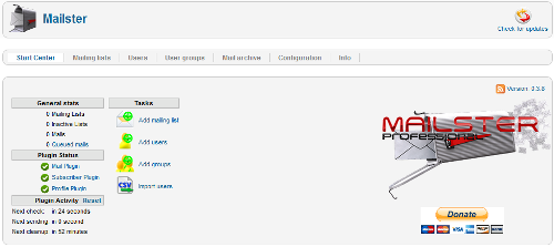 Opzioni di configurazione in Mailster