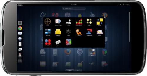 Il desktop di Fedora 19 su Nexus 4 (fonte: android.hdblog.it)