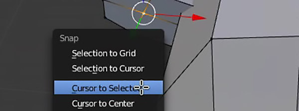 Cursor to Selection