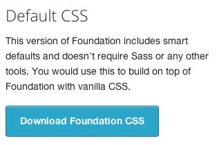 Pulsante per il download della versione CSS di Foundation