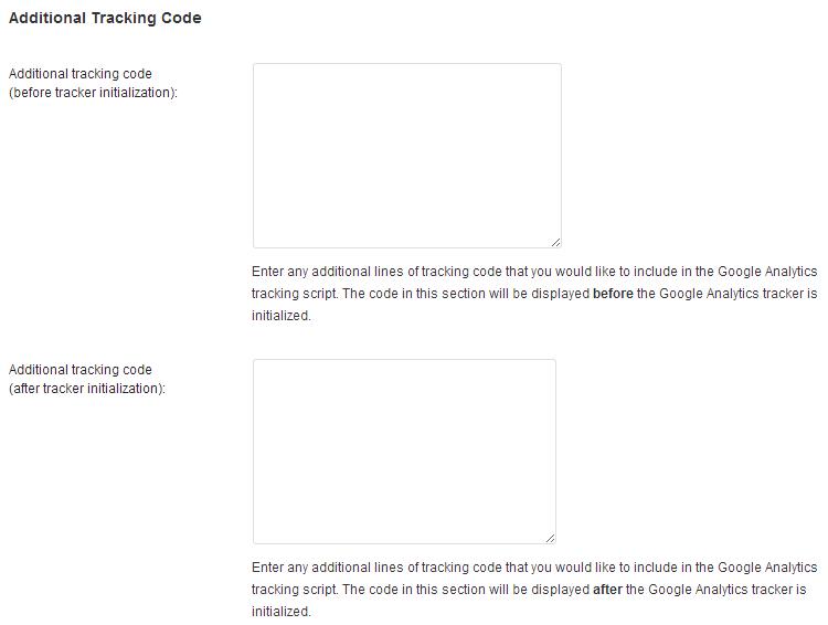 Integrazione del codice di Google Analytics