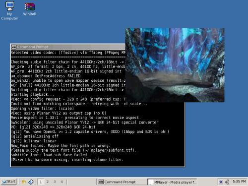 MPlayer in funzione (fonte: www.mplayerhq.hu)