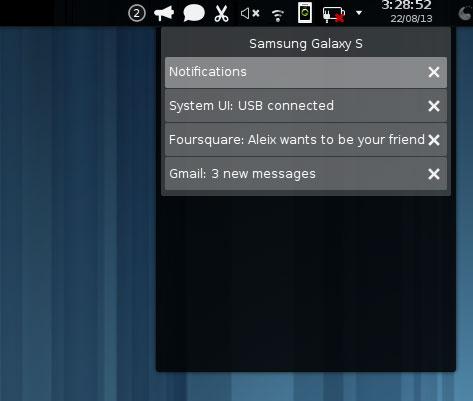 Con KDE Connect è possibile tenere traccia di molte informazioni (fonte: omgubuntu.co.uk)