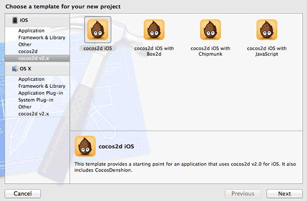 Tipi di progetto disponibili