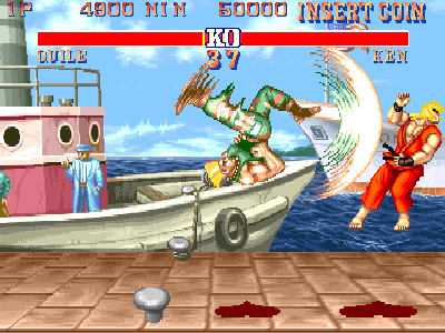 Street Fighter II (sprite in movimento)