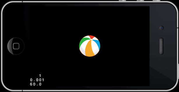 Sprite posizionato al centro dello schermo