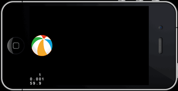 Lo sprite è posizionato alla sinstra dello schermo