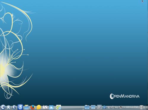 Il desktop di OpenMandriva Lx 2013