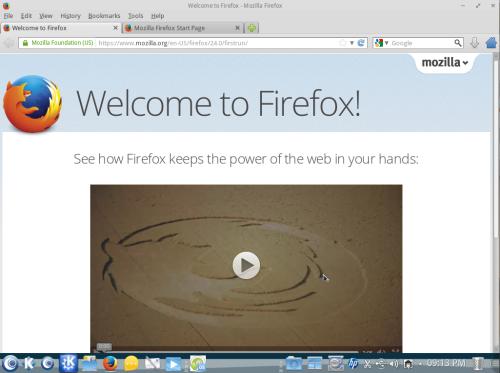 Firefox in OpenMandriva Lx 2013