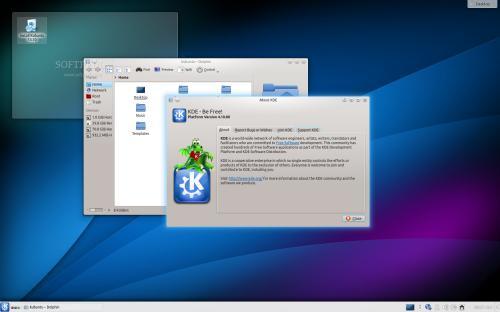 Il desktop di Kubuntu 13.10 (fonte: softpedia.org)