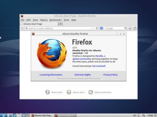 Mozilla Firefox sul desktop di Lubuntu 13.10 (fonte: linux-gen.blogspot.it)