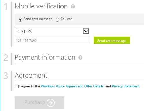 La sottoscrizione comporta una verifica dell'identità tramite SMS, per evitare spam e false iscrizioni.