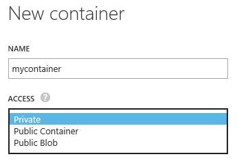 Creazione di un container.