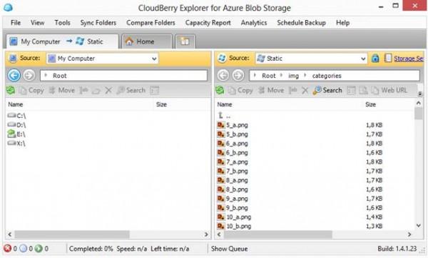 Un software gratuito per la gestione dei blob sullo storage.