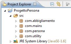 Progetto realizzato con l'IDE Eclipse