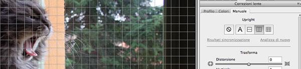 Piano verticale con griglia