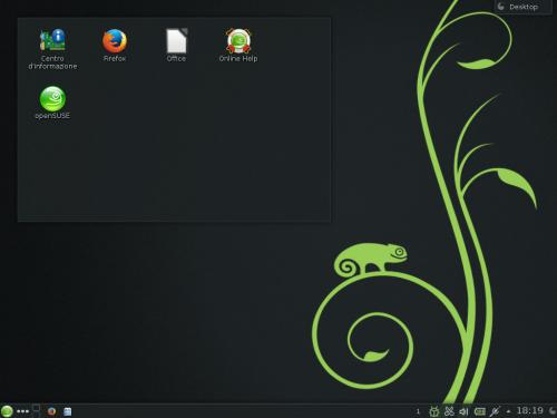 Il desktop di KDE su OpenSUSE 13.1
