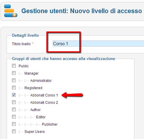 Autorizzazione degli utenti