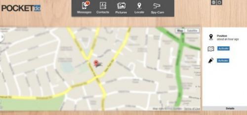 La geolocalizzazione tramite Pocket.do (fonte: thenextweb.com)