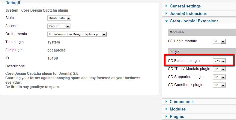Integrazione di Core Design Captcha plugin.
