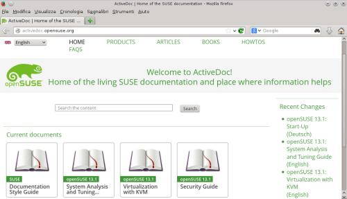 La home page di ActiveDoc