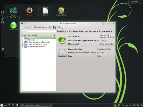 OpenSUSE 13.1 è basata sul kernel Linux 3.11