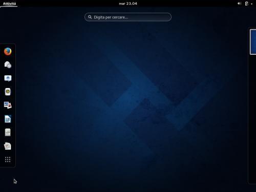 Il desktop di GNOME 3.10 su Fedora 20