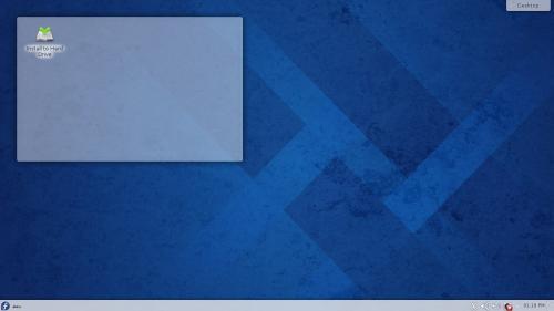Il desktop di KDE Plasma Workspace 4.11 su Fedora 20