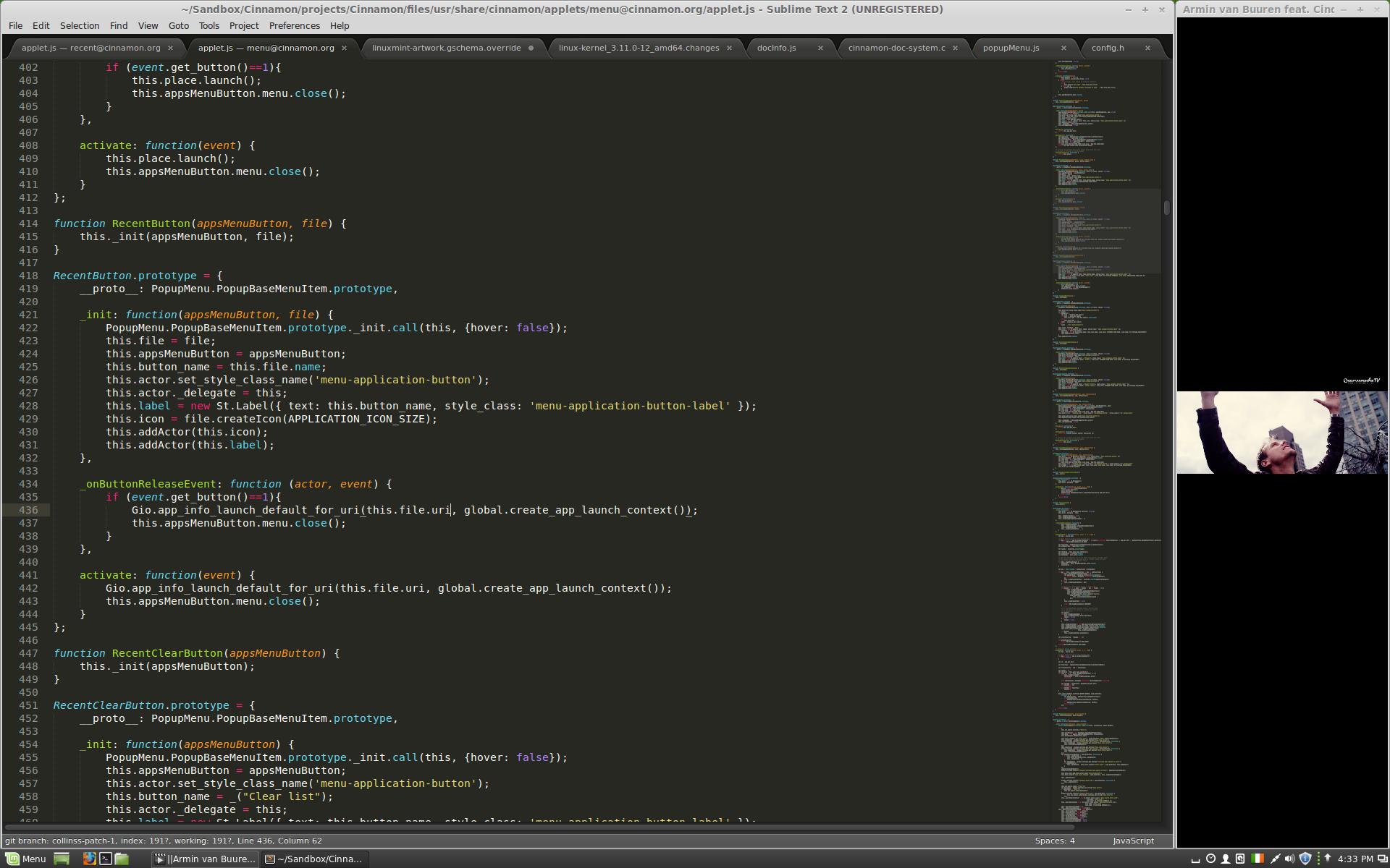 La nuova funzionalità di edge-snapping su Cinnamon 2.0 (fonte: linuxmint.com)