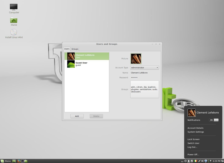 Le nuove funzionalità della gestione utente su Cinnamon 2.0