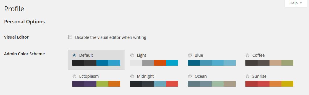 Gli schemi dei colori di MP6