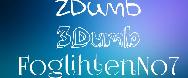 Esempi di font Novelty