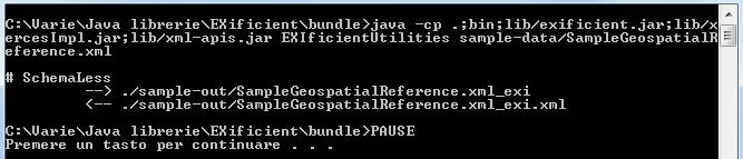 Esecuzione dello script run-ExiUtilities