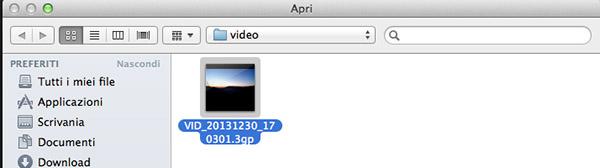 Apertura del video