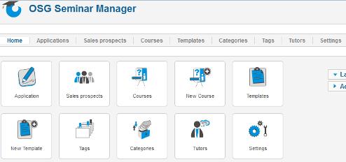 Dashboard di OSG Seminar Manager