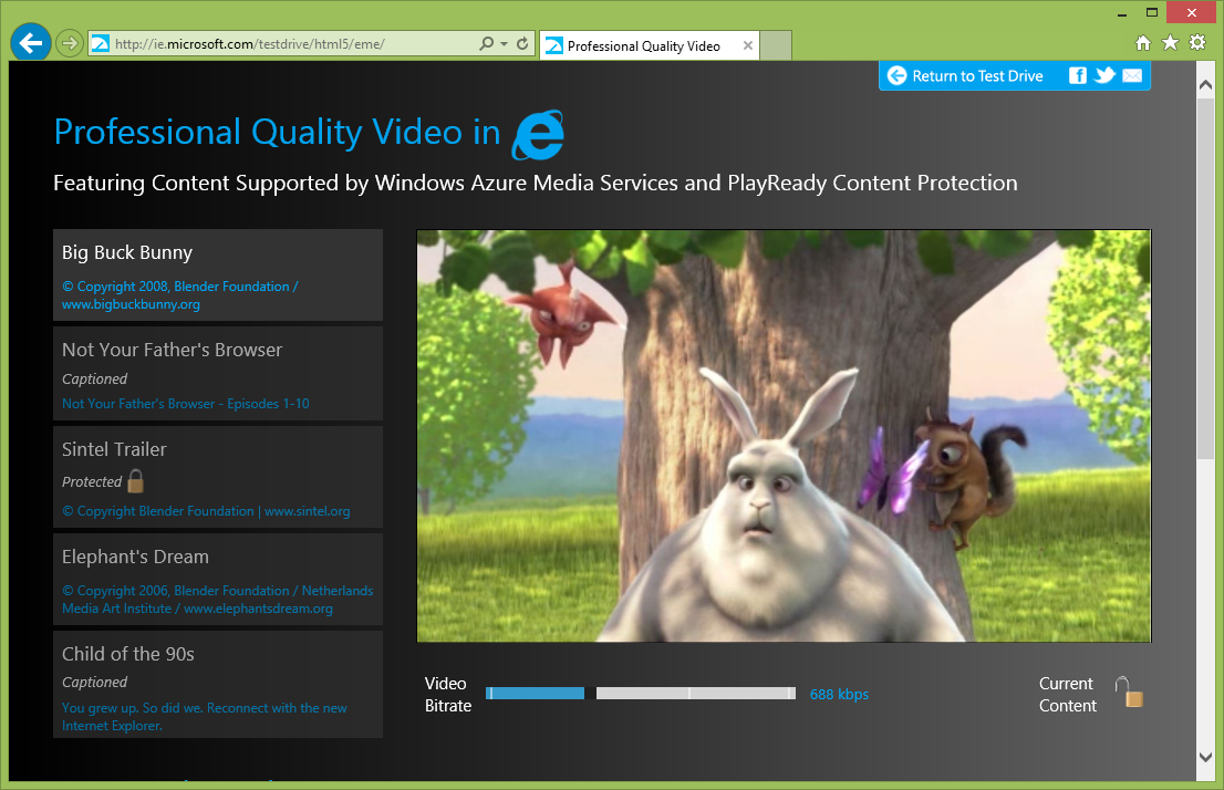 Video HTML5, Media Source Extensions | Guida IE11