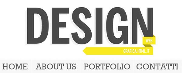 Esempio di Large Type Design