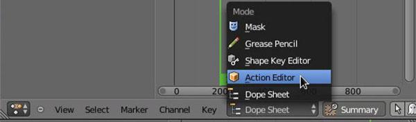 Menu Action Editor