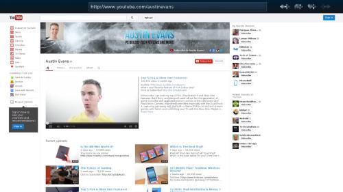 Il Web Browser di SteamOS (fonte: youtube.com/austinevans)