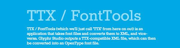 TXT/FontTools